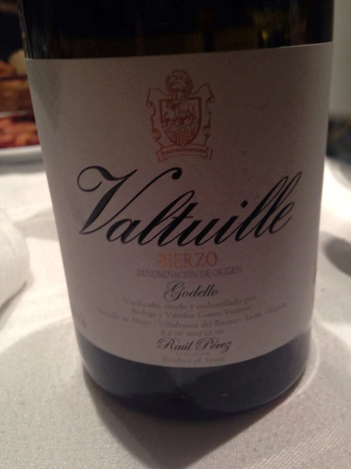 Vino Valtuille Godello