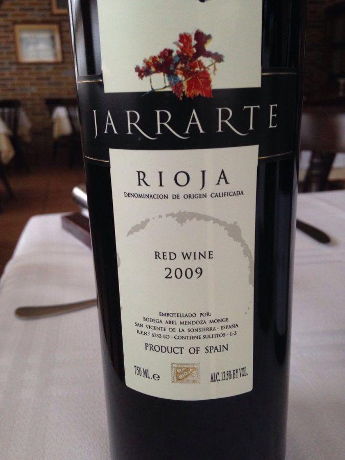 Vino Jarrarte 2009