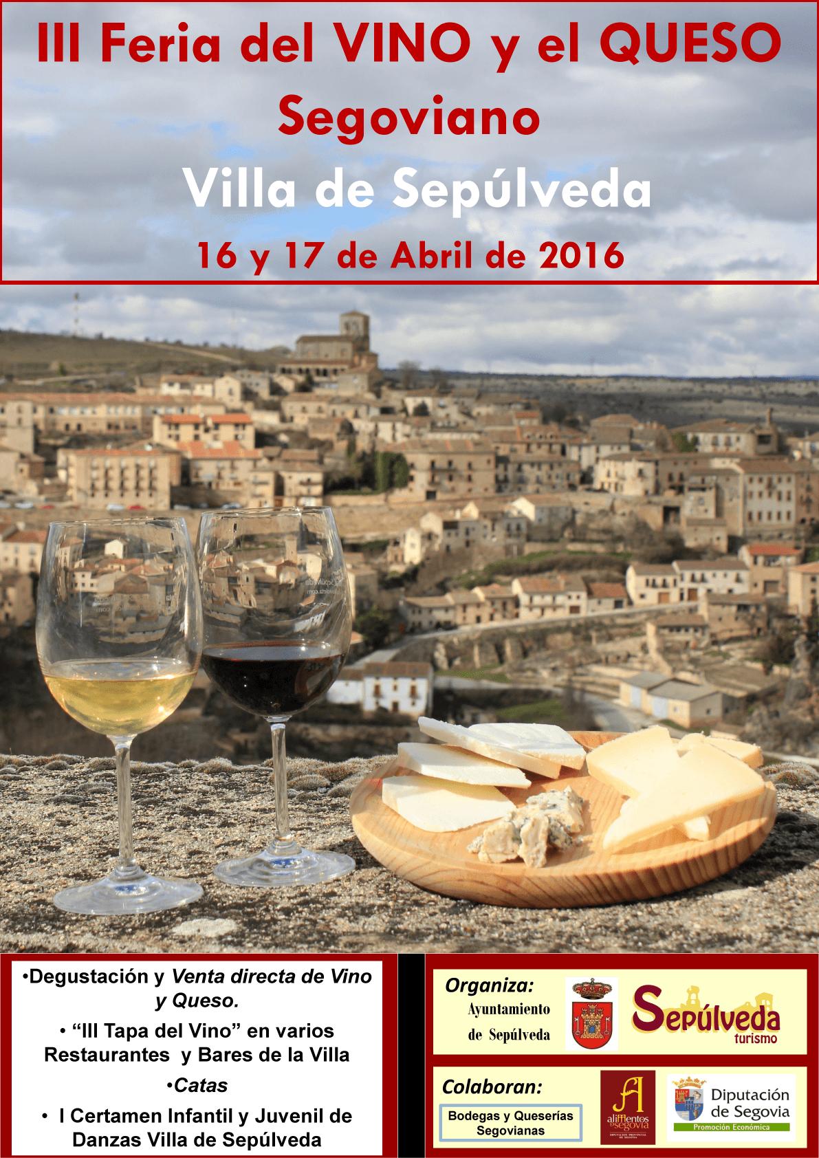 Cartel III Feria del Vino y Queso Segovianos