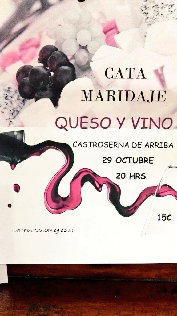 Cata Maridaje vinos y quesos Castroserna
