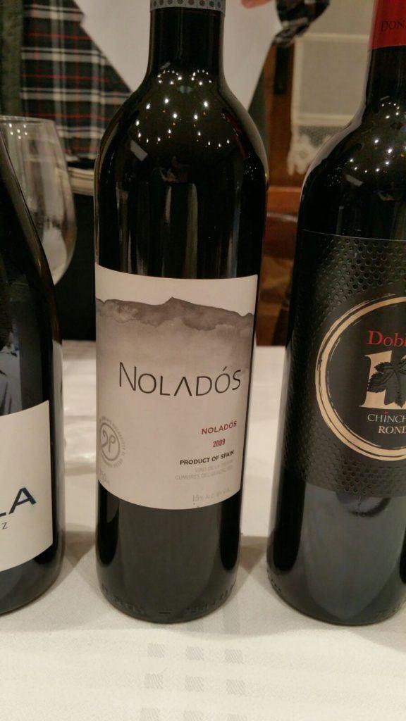 Cata Octubre vino Veleta Nolados 2009