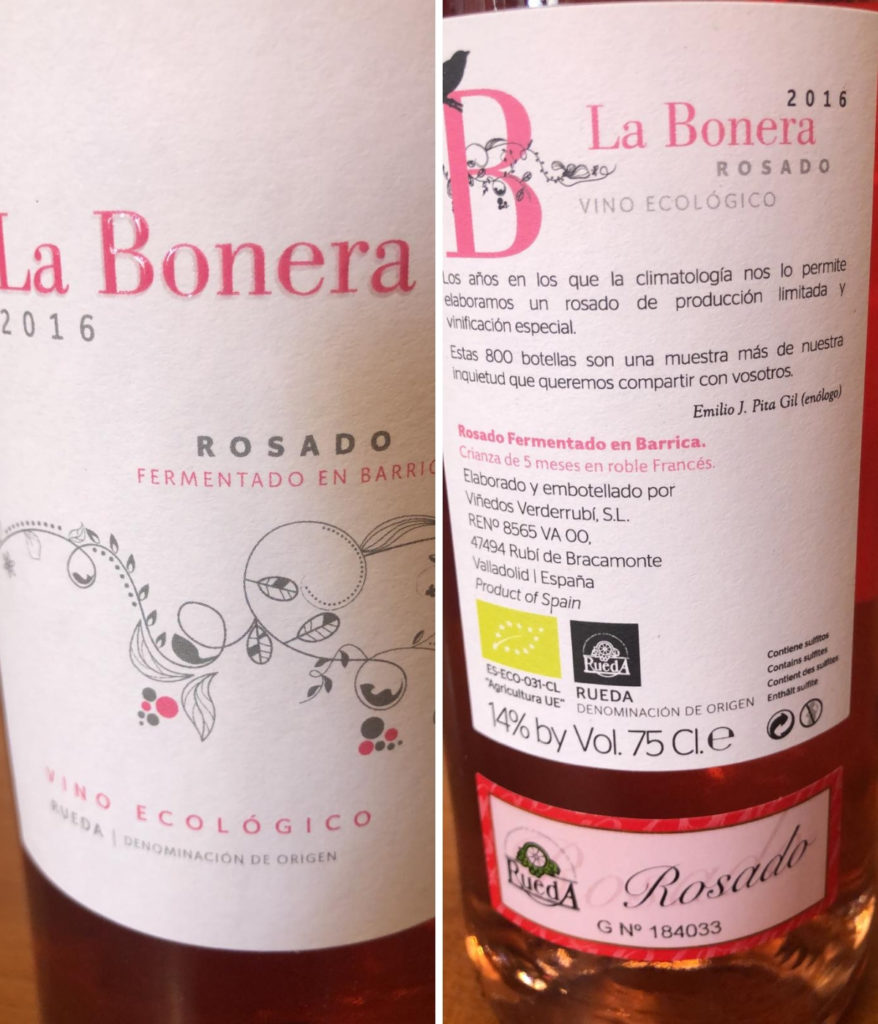 La Bonera Rosado fermentado en Barrica Bodegas Verderrubí