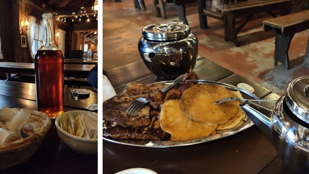 Desayuno con jarabe de arce en la Sucrerie de la montagne
