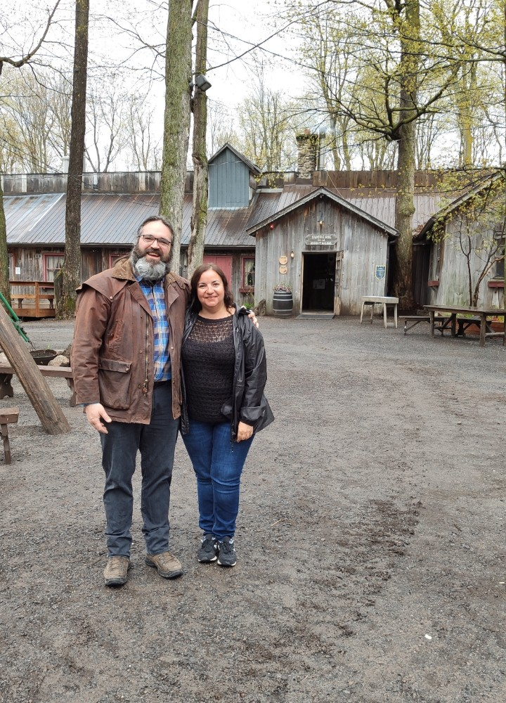 Sucrerie de la montagne, jarabe de arce con Stephane